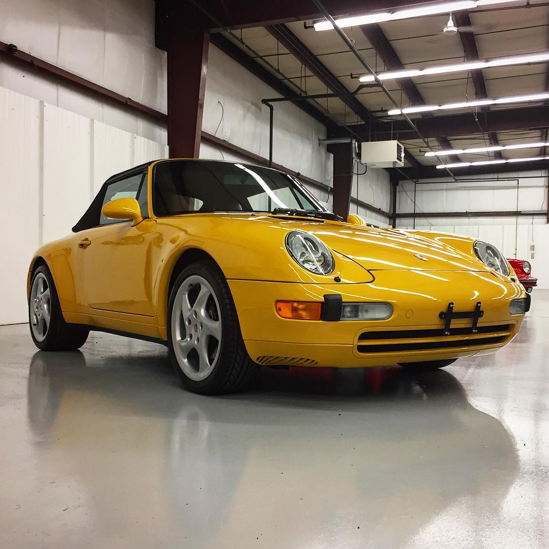 1996 993 Carrera Cabriolet Speed YellowBlack new top only 33641hellip
