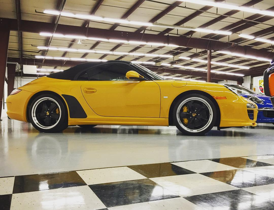 The only Speed Yellow 997 Speedster built