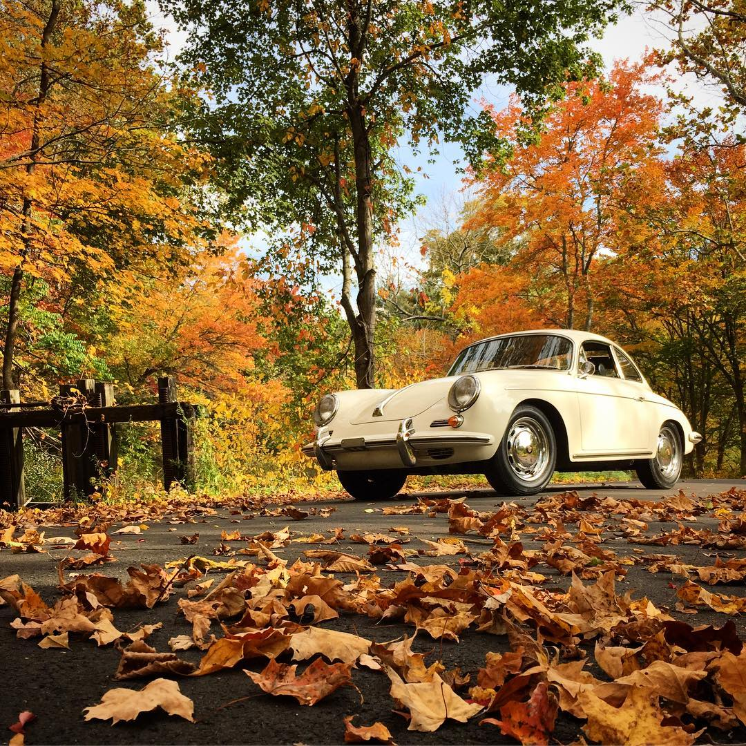Soaking up the fall weather in this 1965 356C Itshellip