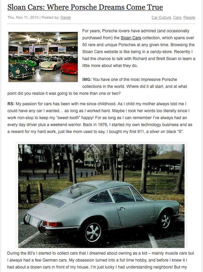In My Garage Article Page 1