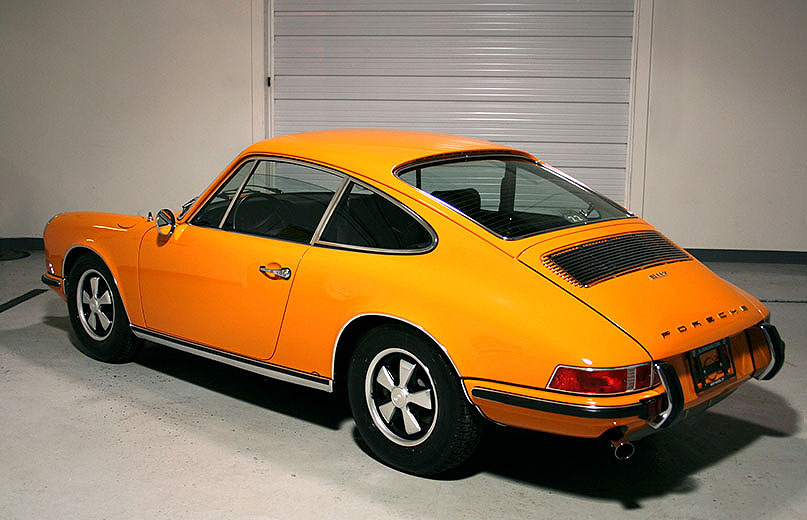 1971 porsche 911 t coupe signal orange 38 630 miles sloan cars. Black Bedroom Furniture Sets. Home Design Ideas