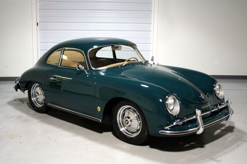 1958 Porsche 356 A Coupe Fjord Green Restored Sloan Cars