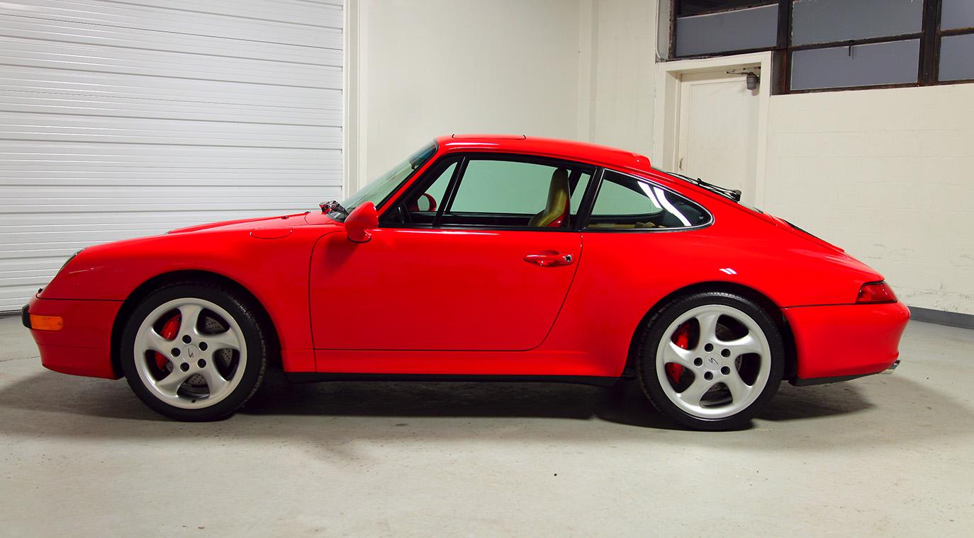 1997 Porsche 993 C4s Guards Red 1 958 Miles Sloan Cars