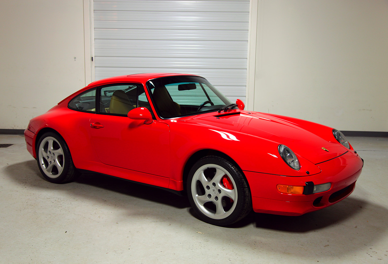 1997 Porsche 993 C4s Guards Red 1 958 Miles Sloan Cars