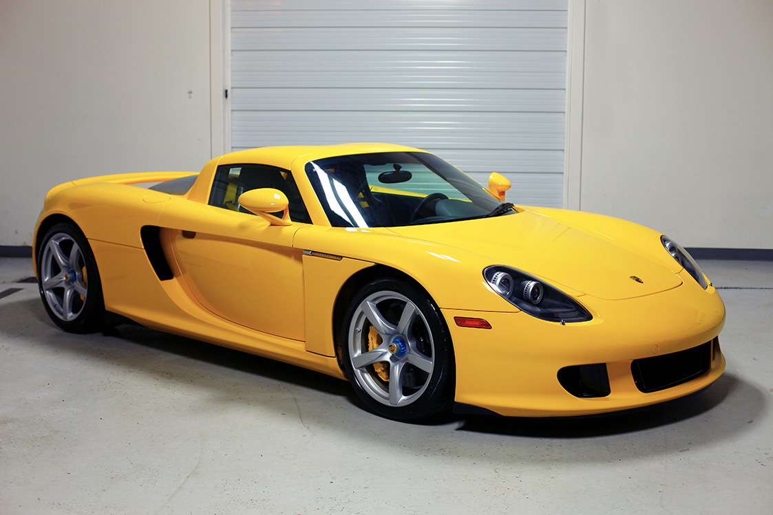 2005 porsche carrera gt fayence yellow 572 miles sloan cars. Black Bedroom Furniture Sets. Home Design Ideas