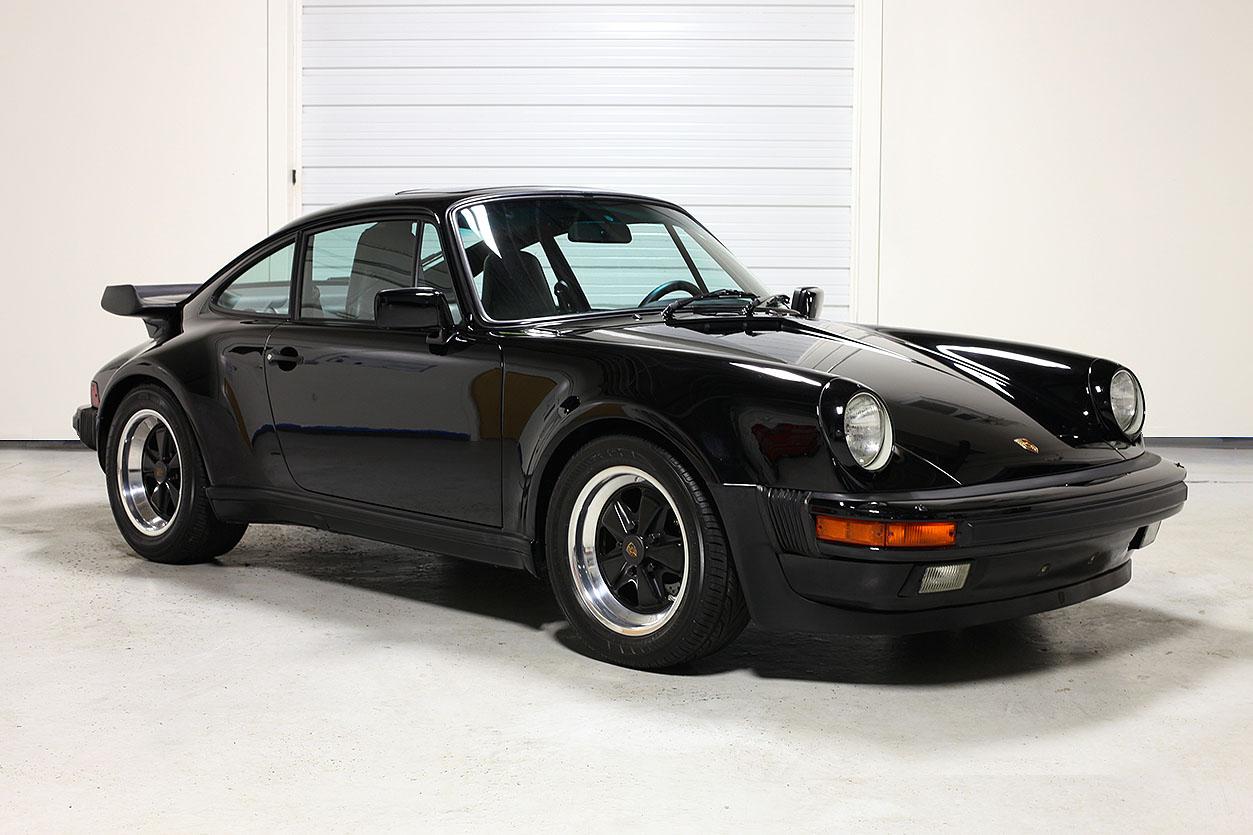 1986 Porsche 911 Turbo Black Black 14 279 Miles Sloan Cars