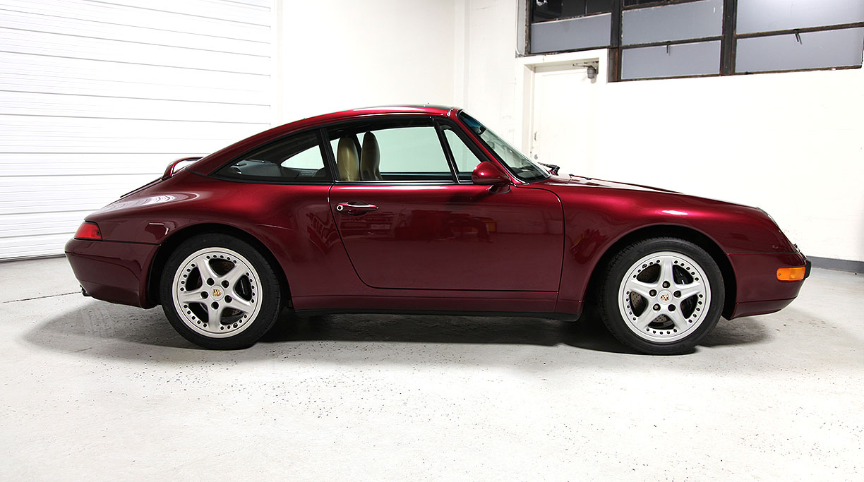 1997 porsche 993 targa arena red 41 257 miles sloan cars. Black Bedroom Furniture Sets. Home Design Ideas