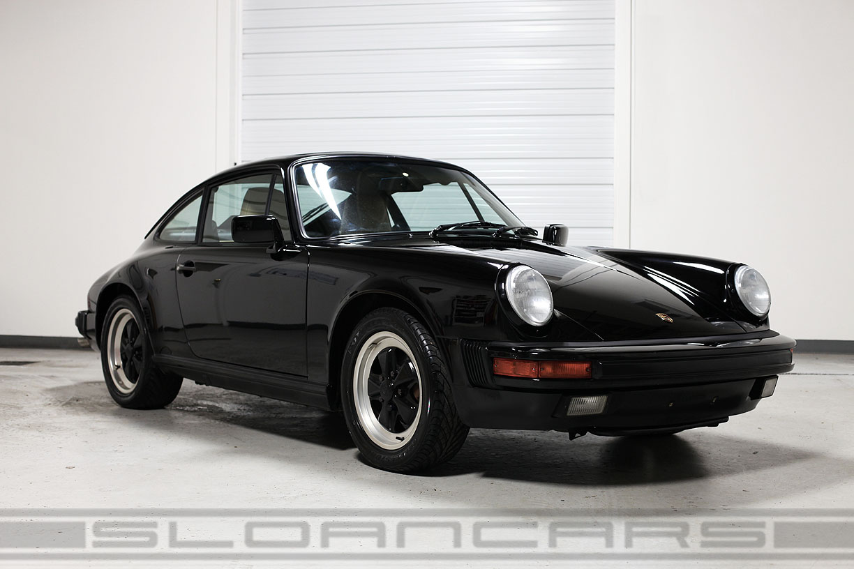 1987 Porsche 911 Carrera Black Tan 68 288 Miles Sloan Cars
