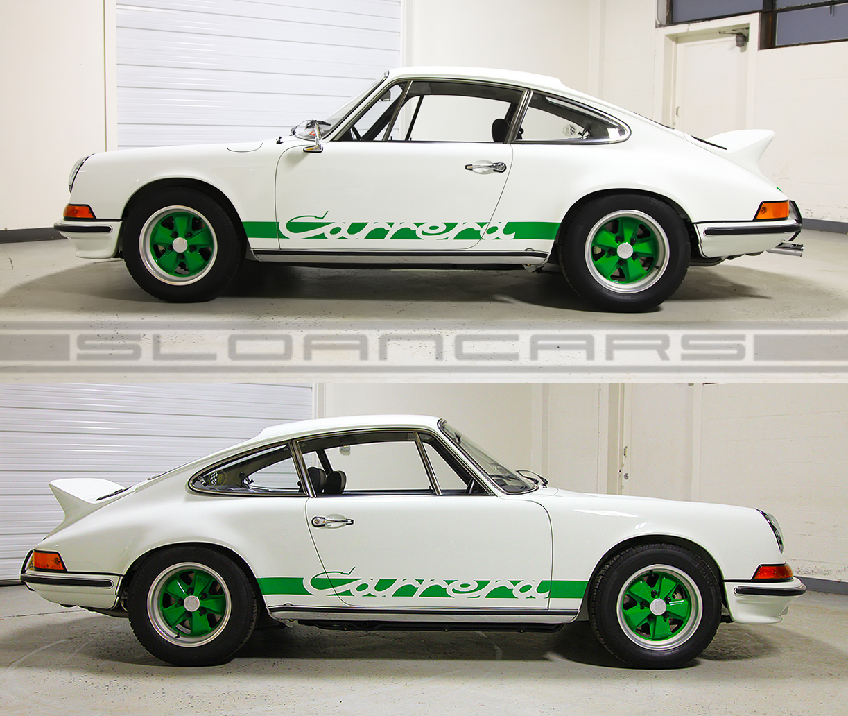 1973 porsche carrera rs grand prix whitegreenblack sloan cars 1973 carrera rs vanachro Choice Image