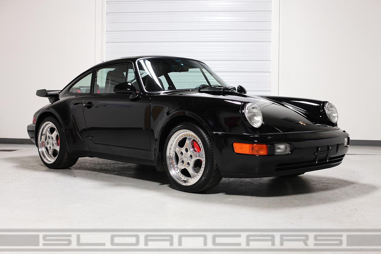 1994 porsche 964 turbo 3 6 black 10 922 miles sloan cars. Black Bedroom Furniture Sets. Home Design Ideas