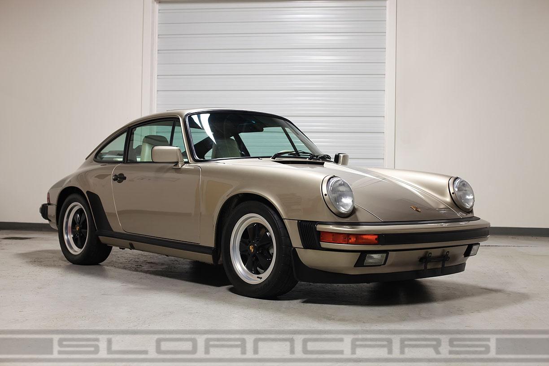 1987 Porsche 911 Carrera White Gold 13 374 Miles Sloan Cars