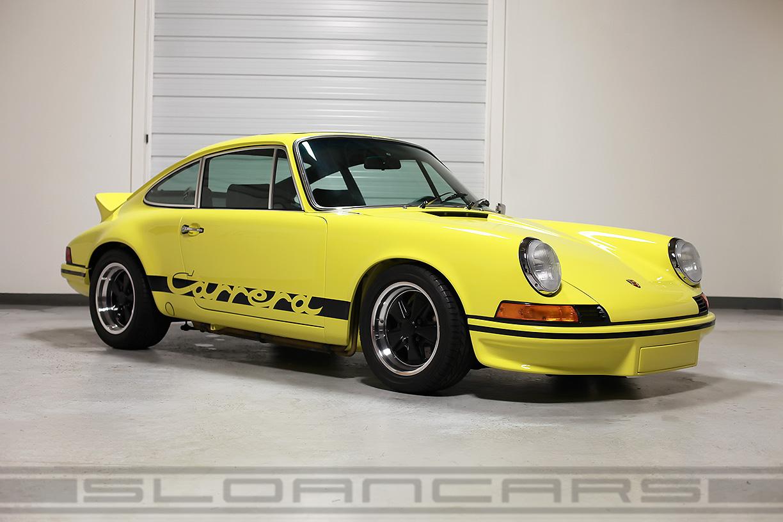 1973porsche 911 Carrera Rs Tribute Light Yellow Restored