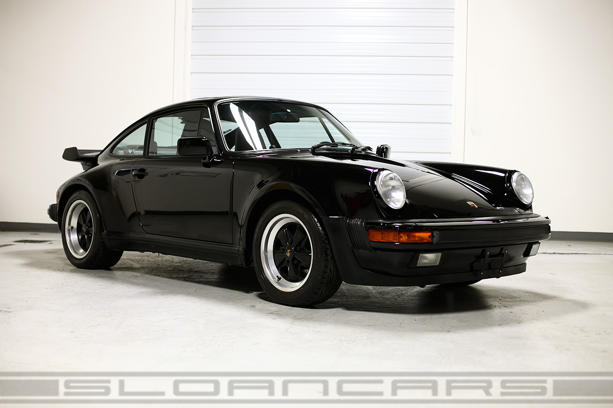 1989 Porsche 911 Turbo Coupe Black 23 687 Miles Sloan Cars