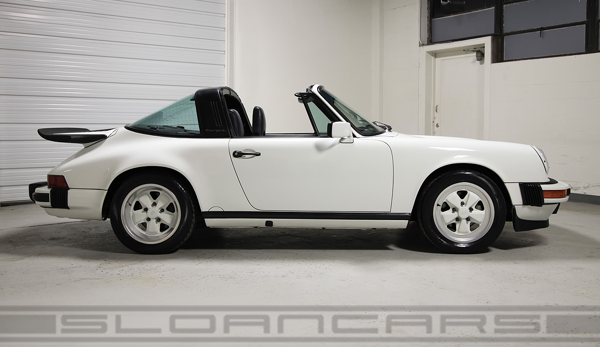 1989 porsche 911 targa grand prix white 18 429 miles sloan cars. Black Bedroom Furniture Sets. Home Design Ideas