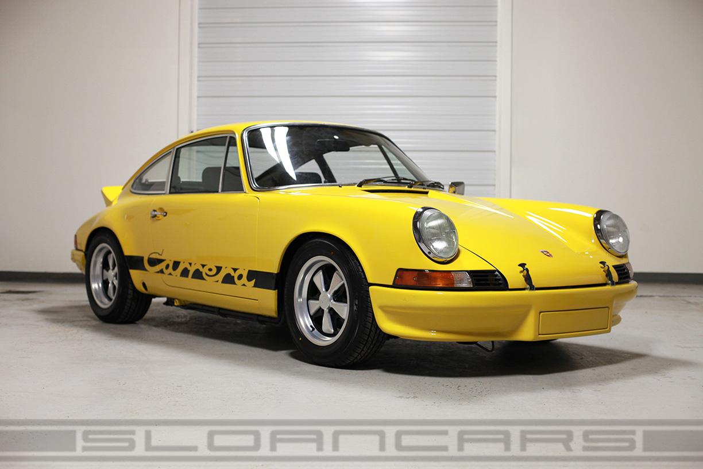 1973 Porsche Carrera Rs Tribute Yellow Black Sloan Cars