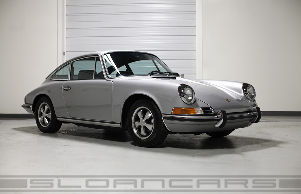 1971 porsche 911t silver black houndstooth interior 57 999 miles sloan cars. Black Bedroom Furniture Sets. Home Design Ideas
