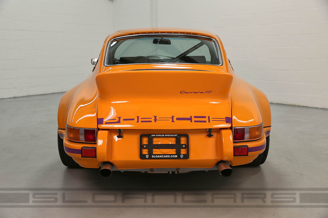 1972 Porsche 911 Rsr Tribute Signal Orange Black Sloan Cars