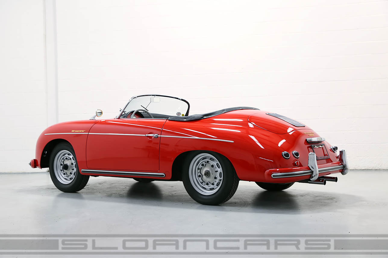 1956 Porsche 356 Speedster Signal Red Black Restored